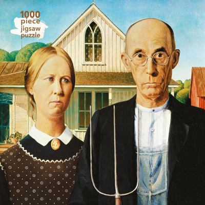 Jigsaw Grant Wood  American Gothic 1000 Pc Puzzle