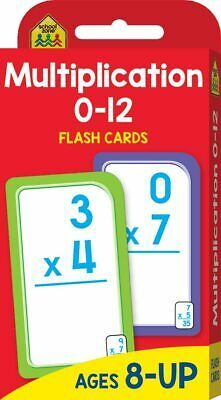 Multiplication 0-12 Flash Cards Ages 8+ - Hinkler