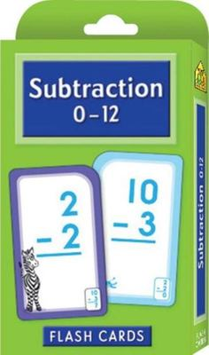 Subtraction 0-12 (School Zone Flash Cards)