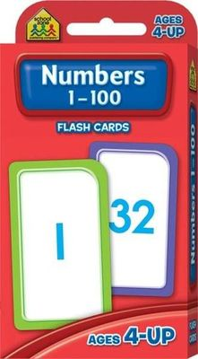 Numbers 1-100 Flash Cards Ages 4+ - Hinkler