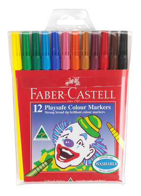 Markers Faber-Castell Playsafe Colour Pack of 12 - 13112 - GNS