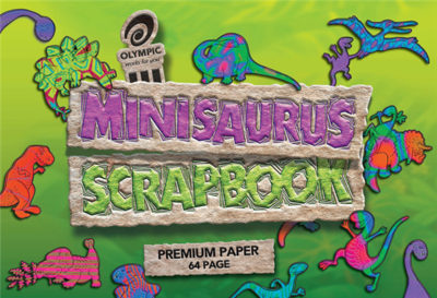 Minisaurus Scrapbook Olympic 168 x 240m 64 page blank 90gsm - 142470 - GNS