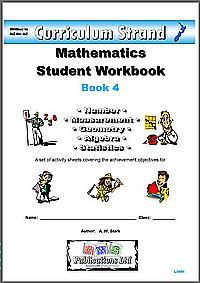 Curriculum Strand Mathematics Student Workbook 4 (suggested suits years 7-9)
