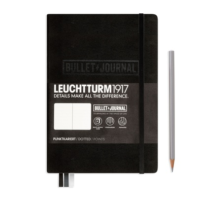 Leuchtturm 1917  Bullet Journal Medium Hardcover - Black Leuchtturm1917