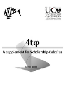 4t-A Supplement for Scholarship Calculus Yr. 13 Workbook