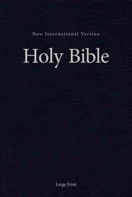 NIV Large Print Church and Pew Bible Navy Double Column