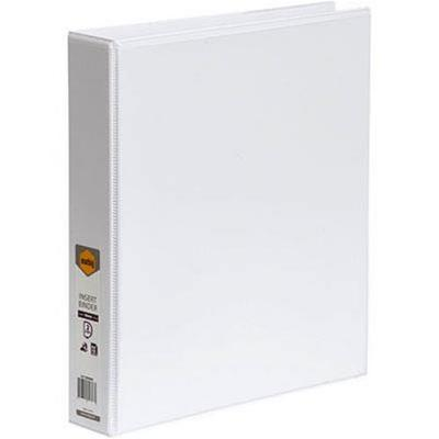 Binder Insert A4 2D 25mm Clearview White Marbig - 5402008B - GNS