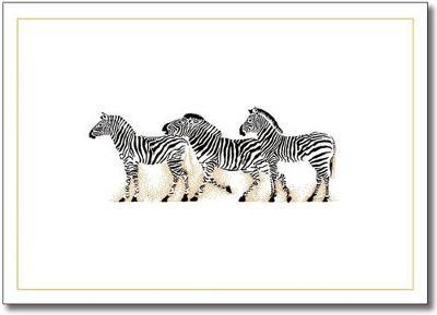 Zebra Note Cards (Stationery, Boxed Cards)