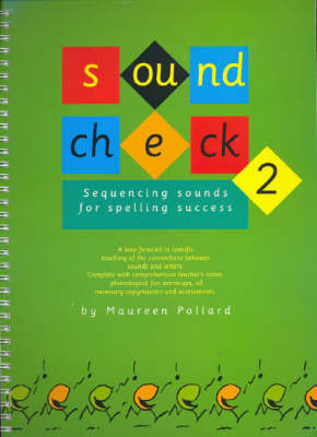 Sound Check Two Sequencing Sounds for Spelling Success