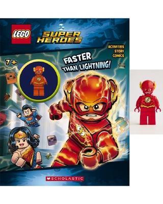 Faster than Lightning! (LEGO DC Super Heroes Activity Book with Minifigure)