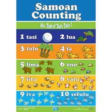Samoan Counting Poster