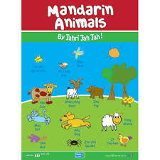 Mandarin Animals Poster