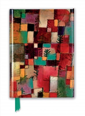 Paul Klee Foiled Journal : Redgreen and Violet-yellow Rhythms
