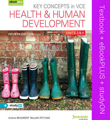 ST189 Key Concepts in VCE Health and Human Development Units 3 & 4 4E & eBookPLUS + StudyOn VCE Health and Human Development Units 3 and 4