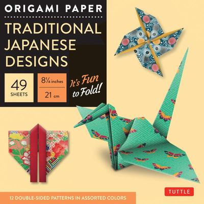 Origami Paper Traditional Japanese Designs: LARGE / 49 Sheets by