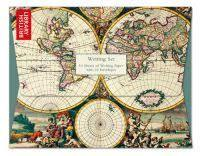 Writing Set - Four Hemisphere World Map