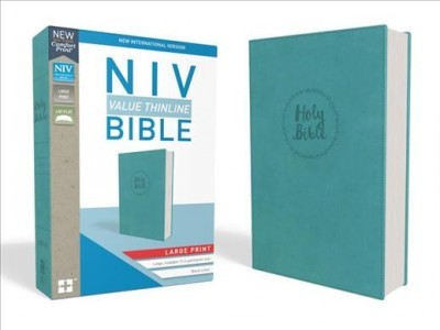 NIV Thinline, Imitation Leather Blue Large Print