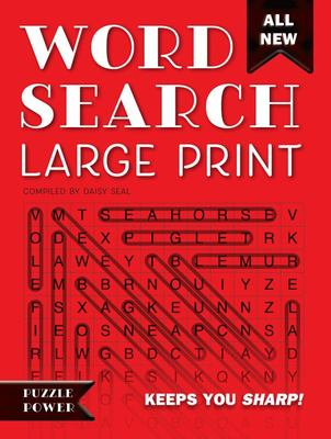 Word Search Large Print (Red): Word Play Twists and Challenges