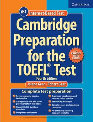 CAMBRIDGE PREPARATION FOR THE TOEFL TEST BOOK WITH ONLINE PRACTICE TESTS AND AUDIO CDS (8) PACK 4TH EDITION