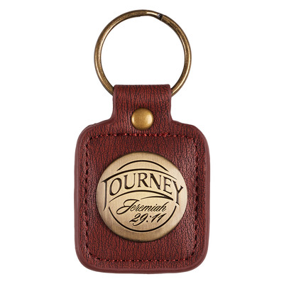 LuxLeather Keyring in Tin Journey