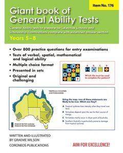 Giant Book of General Ability Tests (Basic Skills No. 176) Yrs 5 - 8 (NZ Yrs 6-9)