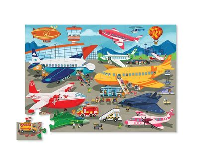 Busy Airport 50pc Canister Floor Puzzle