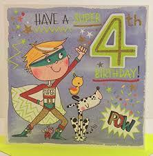 Have a SUPER 4th Birthday card