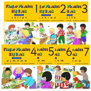 Large finger phonics big books 1 7 print 318x320