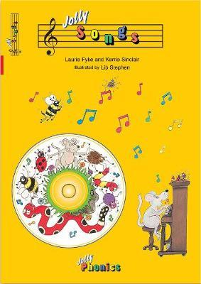 Jolly Songs (book and CD) in Precursive Letters BE