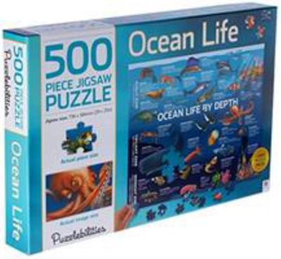 500pc Ocean Life by Depth Jigsaw Puzzle