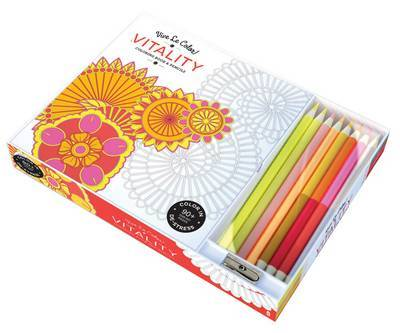 Vitality Vive le Color! (Colouring Book and Pencils): Color Therapy Kit