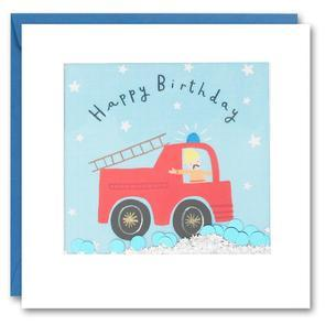 Fire Truck Shakies Birthday Card