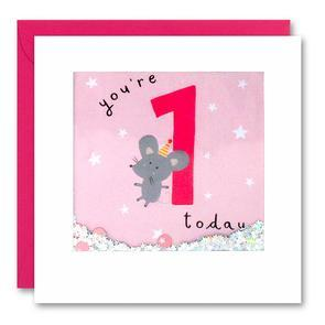 You're 1 Today Mouse Shakies Card