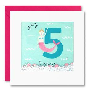 Yay 5 Today Mermaid Shakies Card