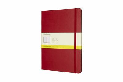 Moleskine Classic Hardcover Extra Large Grid Notebook: Scarlet Red