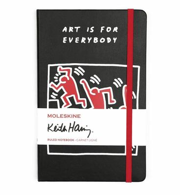 Keith Haring Special Edition Moleskine Notebook Ruled large Black