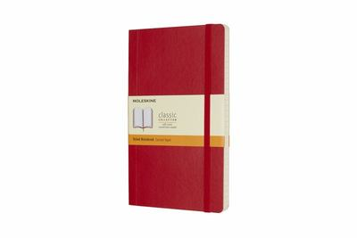 Scarlet Red Large Ruled Soft Cover Moleskine NotebookM-QP616F2