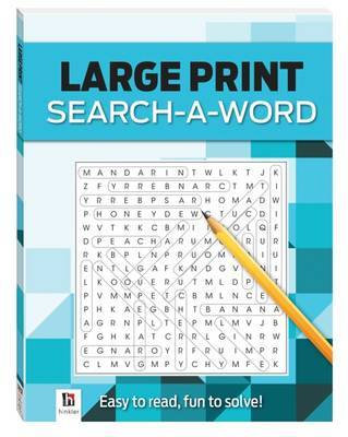 Large Print Search-a-word - Blue