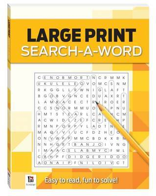 Large Print Search-a-word Yellow