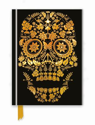 Gold Sugar Skull: Foiled Journal