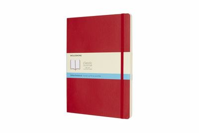 Scarlet Red Soft Cover Extra Large Dot Grid Moleskine Notebook