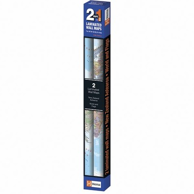 Twin Pack Maps World & Flags and NZ