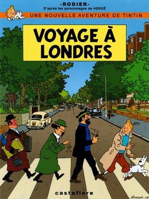 Voyage a Londres (Tintin) - card