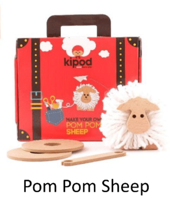 Pom Pom Sheep - Wooden Craft
