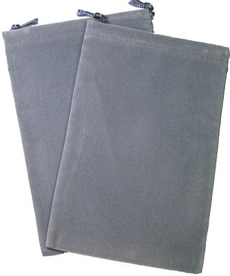 Dice Bag Suedecloth Large Dark Grey