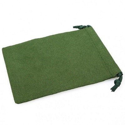 Dice Bag Suedecloth Small Green