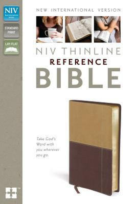 NIV Thinline Reference Bible Camel/Burgundy