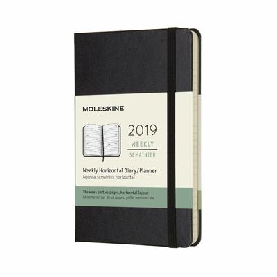 2019 Weekly Horizontal Black Pocket Hardcover Diary Moleskine