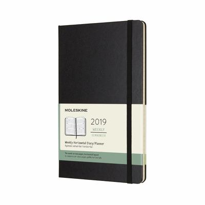 2019 Weekly Horizontal Black Large Hardcover Diary Moleskine
