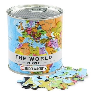 World Map Fridge Magnet Puzzle